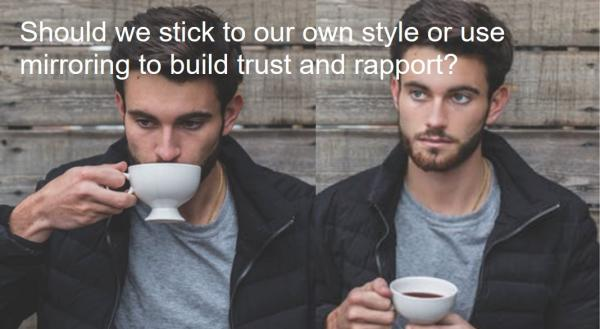Last week's guest blog touched on building great working relationships with customers.  You begin building trust from the moment you meet someone or talk to a new customer on the phone.  The question is, should we stick to our personal styles or use mirroring to build rapport?
